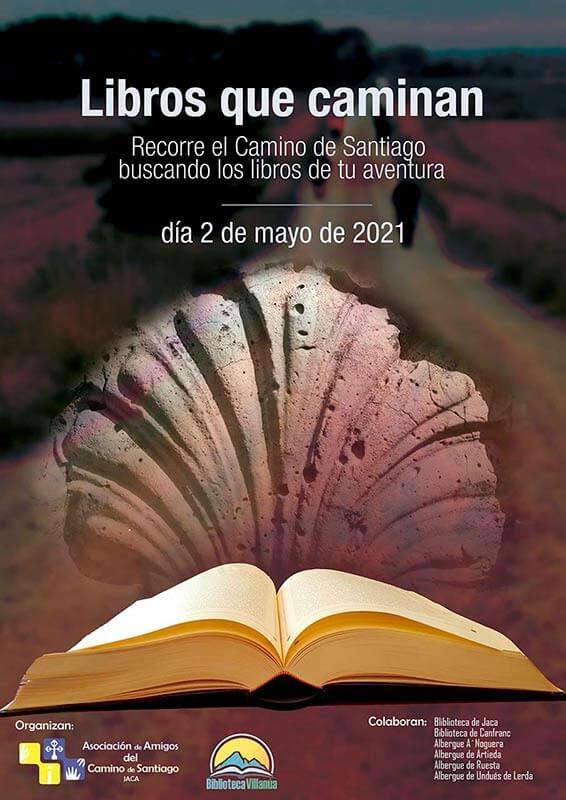 Libros que caminan por el Camino de Santiago, desde Somport a Undués de Lerda