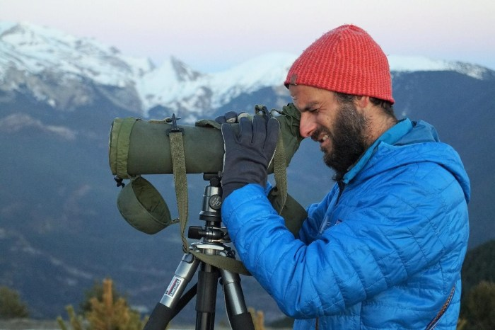 David Ruiz de Gopegui, autor de Una mirada al Pirineo. (FOTO: Rebeca Ruiz)