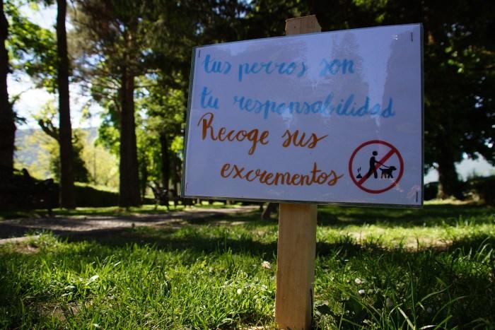 Los más jóvenes de Biescas convencen y la campaña sobre los perros y los parques es un éxito. (FOTO: Rebeca Ruiz)