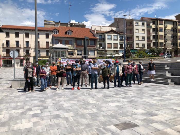 Concentración en Sabiñánigo en defensa del Sistema Público de Pensiones.