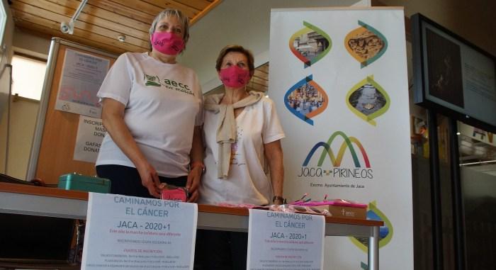 La AECC de Jaca invita a caminar por el cáncer. (FOTO: Rebeca Ruiz)