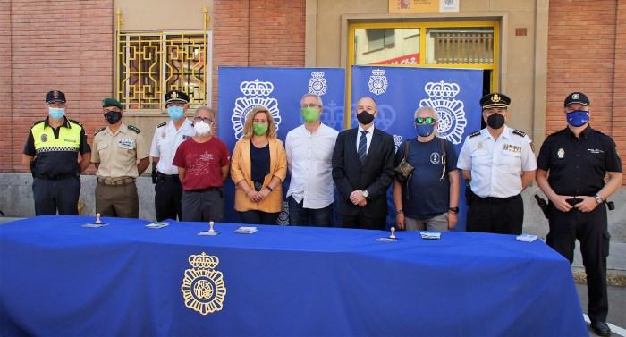 La Policía Nacional realiza la etapa Somport-Jaca en apoyo de la campaña Protegemos el Camino. (FOTO: Rebeca Ruiz)