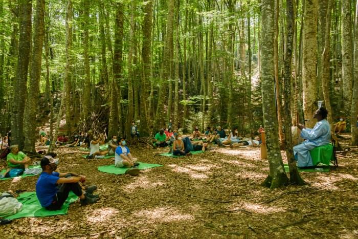 El SoNna desembarca en el Alto Gállego con teatro y música en Anzánigo, Piedrafita y Yebra. En la imagen, de archivo, el SoNna 2020 en el bosque del Betato. (FOTO: DPH)