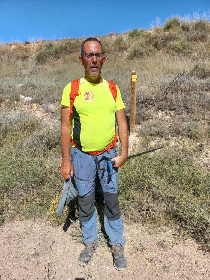 Javier Fanlo, de hospitalero en Bolea a peregrino por el Camino del Santo Grial
