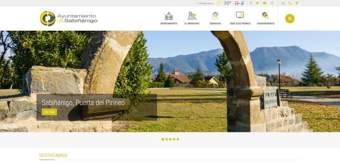 El Ayuntamiento de Sabiñánigo mejora su imagen en la red y su comunicación con los ciudadanos