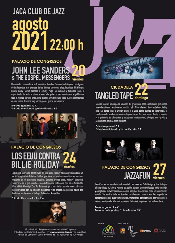 John Lee Sanders, Tangled Tape y Jazz4Fun, en el Jaca Club de Jazz