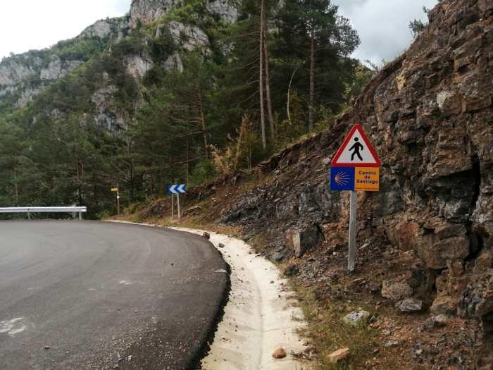 La DPH mejora la seguridad de los peregrinos en los cruces del Camino de Santiago con carreteras. (FOTO: DPH)