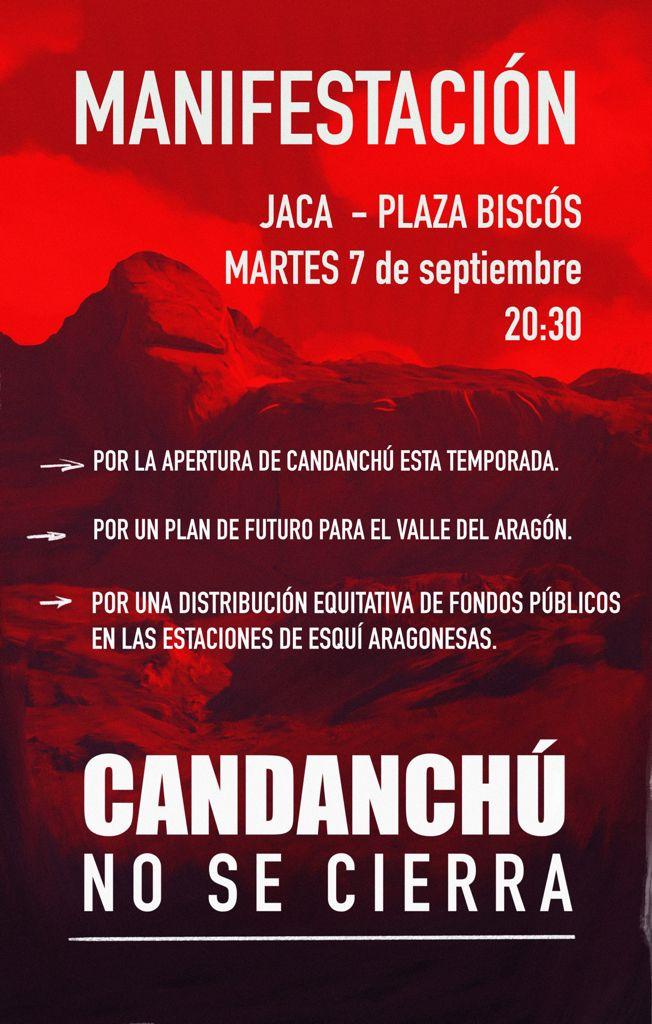 Manifestación en Jaca por el futuro del Valle del Aragón al grito de #Candanchúnosecierra