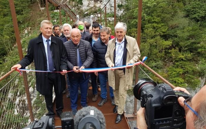La pasarela en el Fuerte de Portalet, nuevo impulso al Camino de Santiago. (FOTO: Gobierno de Aragón)