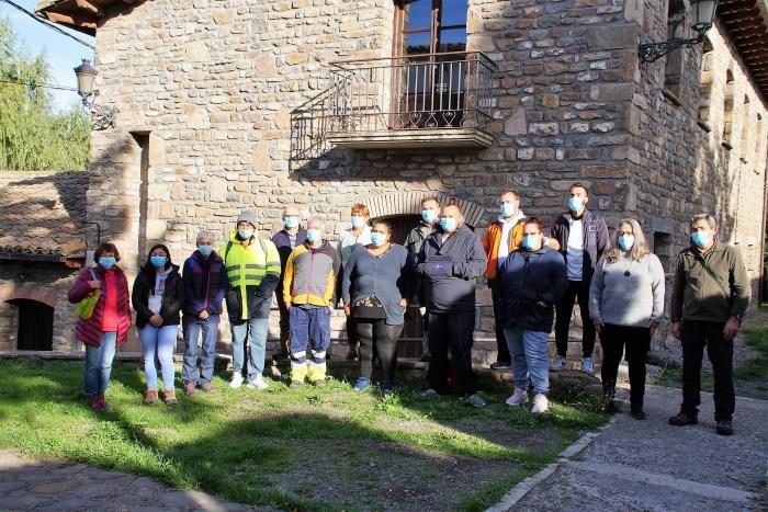 El taller de empleo Rutas y piedras comienza en La Jacetania con 12 alumnos. (FOTO: Rebeca Ruiz)
