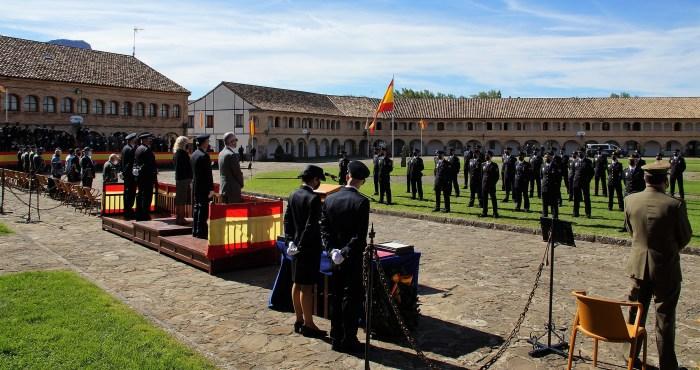 La Policía Nacional celebra los Ángeles Custodios en la Ciudadela de Jaca. (FOTO: Rebeca Ruiz)