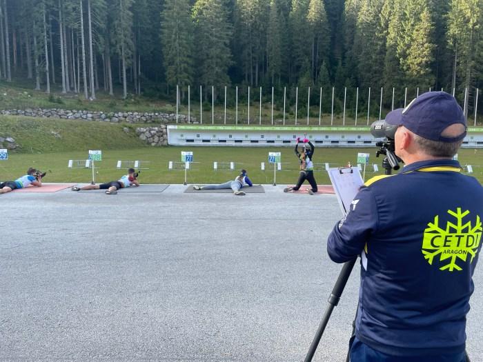 Cuatro biathletas de la FADI representan a España en un campus internacional en Eslovenia