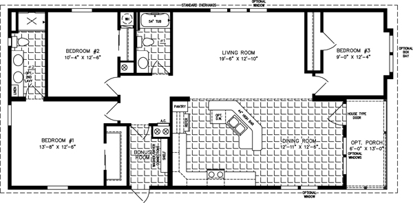 Large Manufactured Home Floor Plans