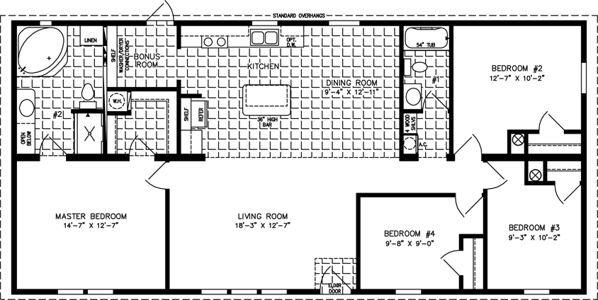 1992 Redman Mobile Home Floor Plan