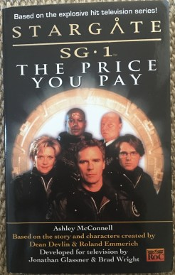 The front cover of the Stargate SG-1 companion novel The Price You Pay by Ashley McConnell