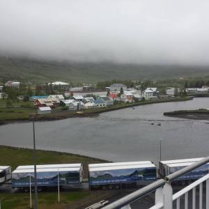 Um borð í Norrænu, ísland kvatt