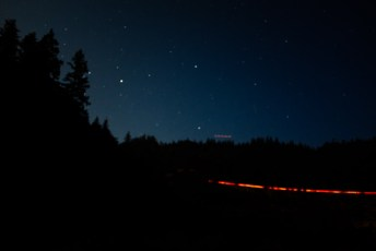freeway at night from campsite