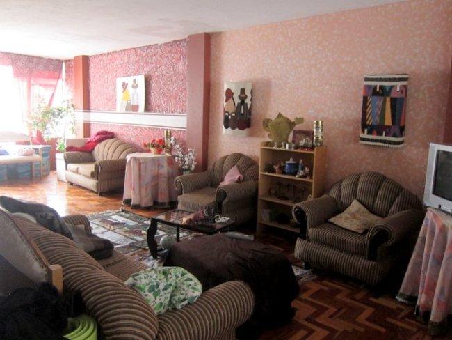 Our living room in Baños, Ecuador