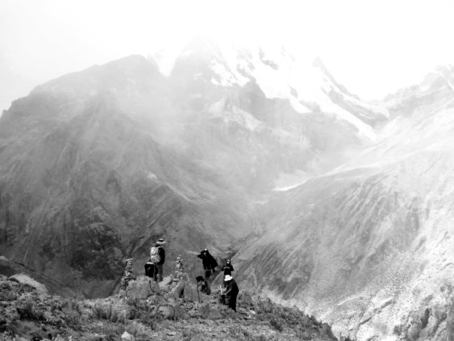 Windy and foggy day on the Huayhuash