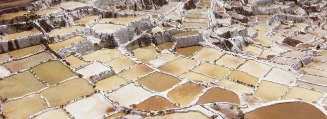 Salt pans at Maras, Peru
