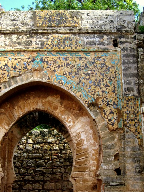 The arch of Chellah, Morocco