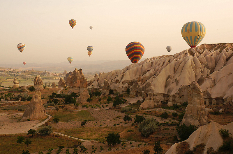 Cappadocia from a hot air balloon ride