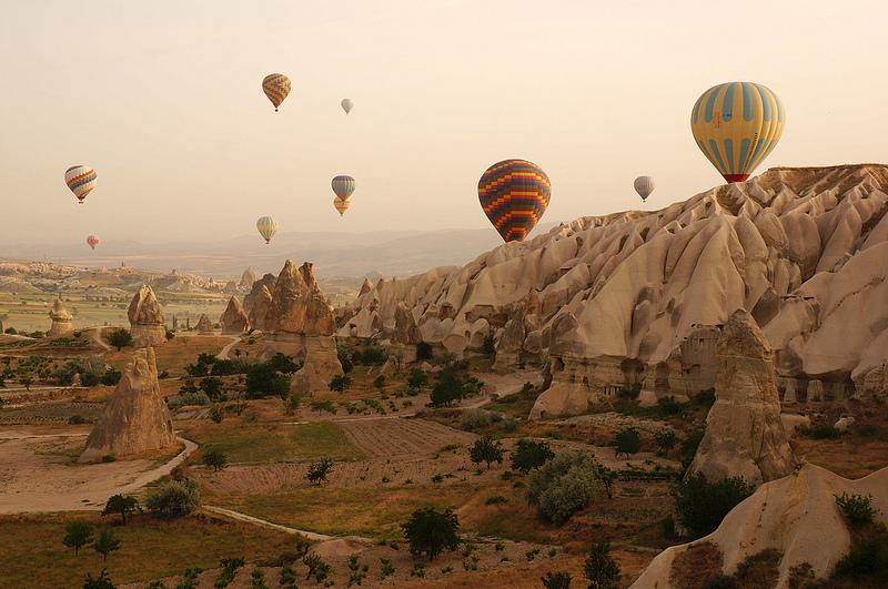 Cappadocia from a hot air balloon ride