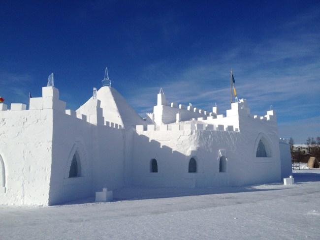 Yellowknife's snowcastle