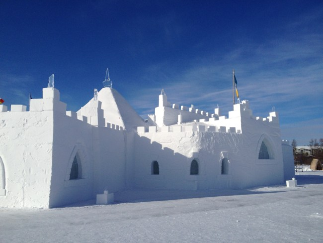 Yellowknife's snowcastle