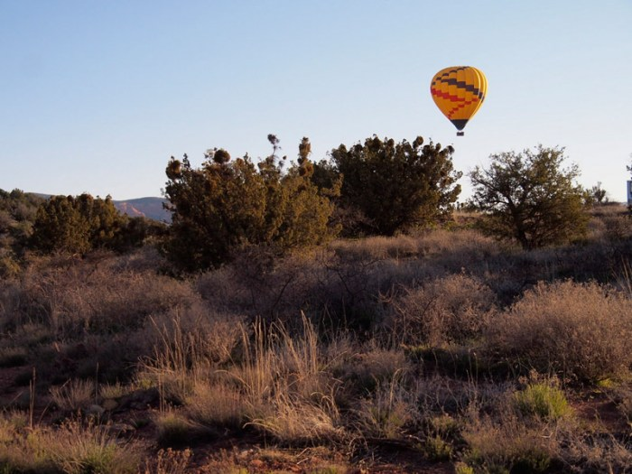 Hot air balloon over Sedona