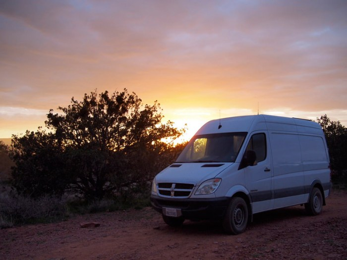 Sprinter is made for boondocking