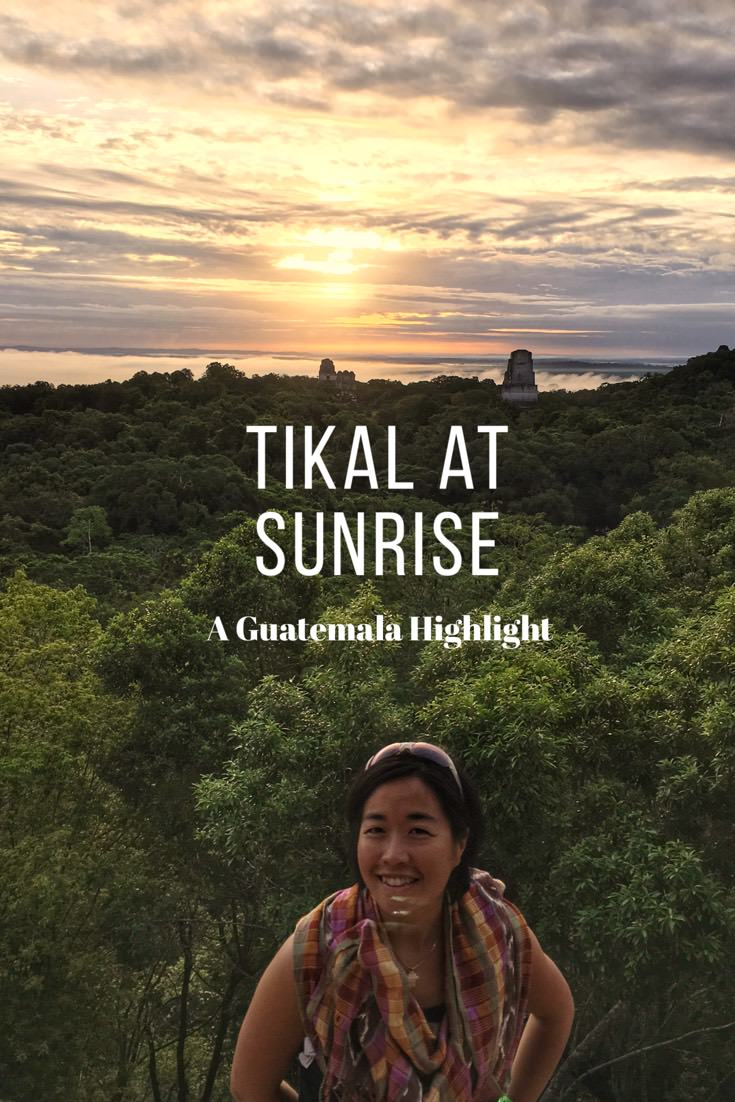 sunrise at tikal