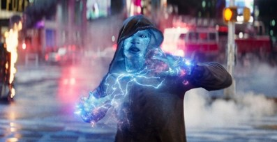 "Jamie Foxx as Electro in Columbia Pictures' ""The Amazing Spider-Man,"" starring Andrew Garfiled and Emma Stone."