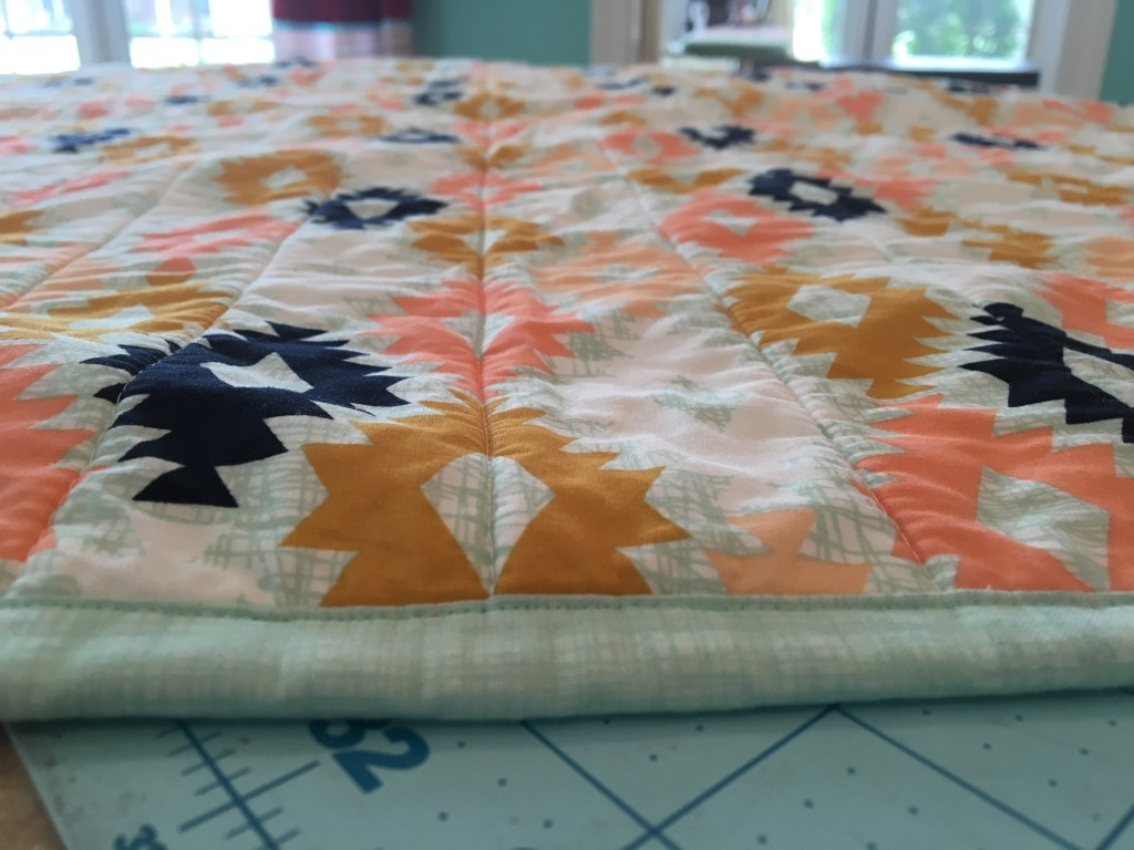 Arizona Wholecloth Baby Quilt