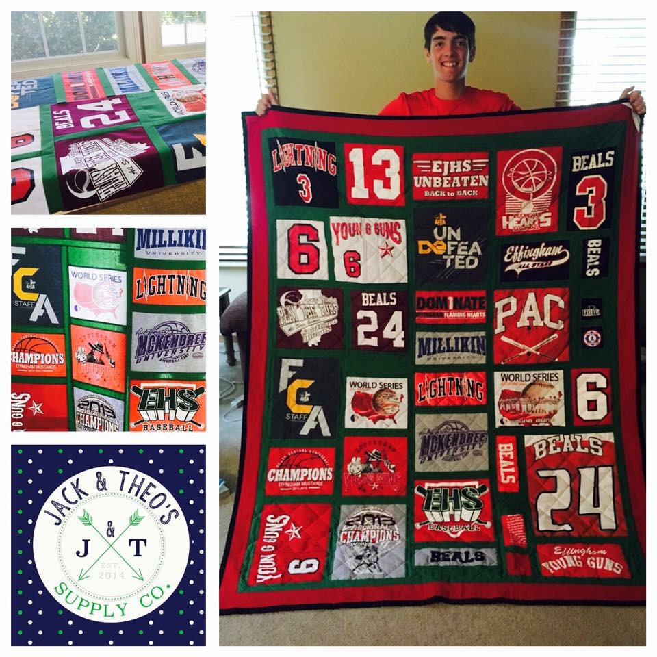 Brent's Senior Grad T-Shirt Quilt - Effingham High School