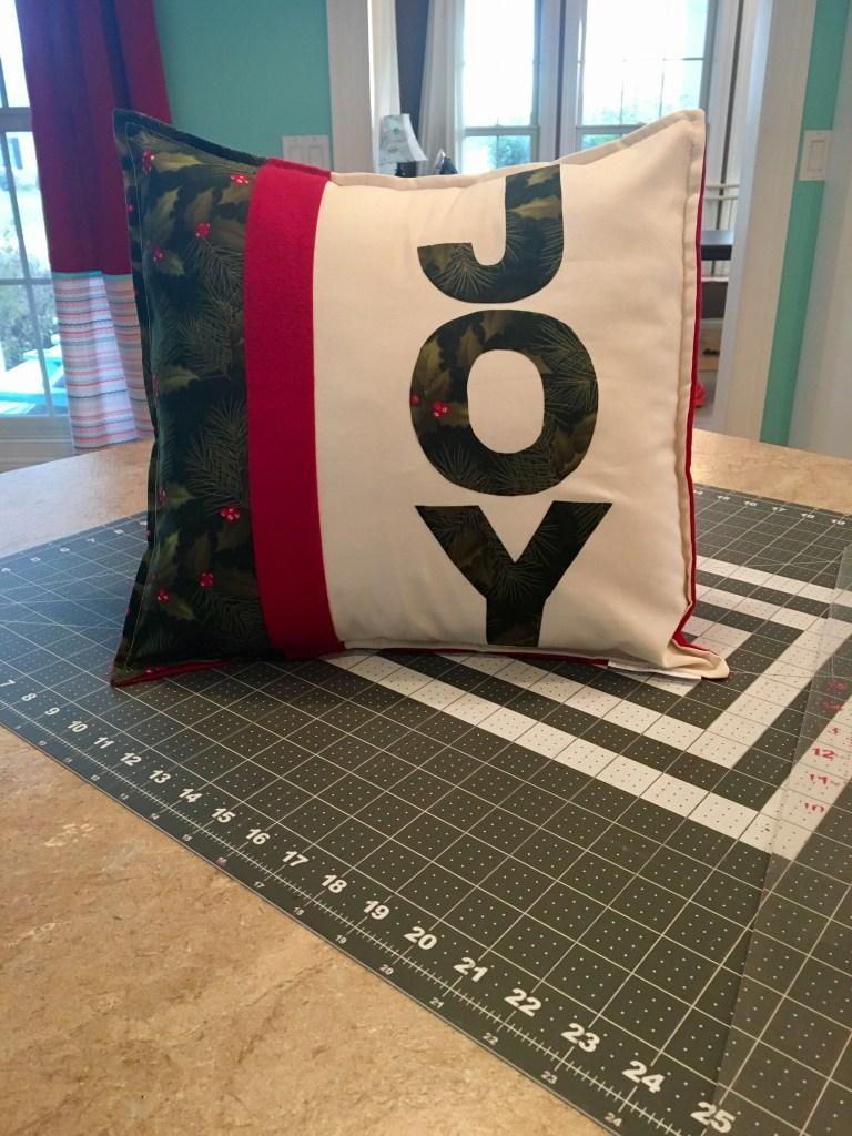 Burlap 'JOY' Throw Pillow