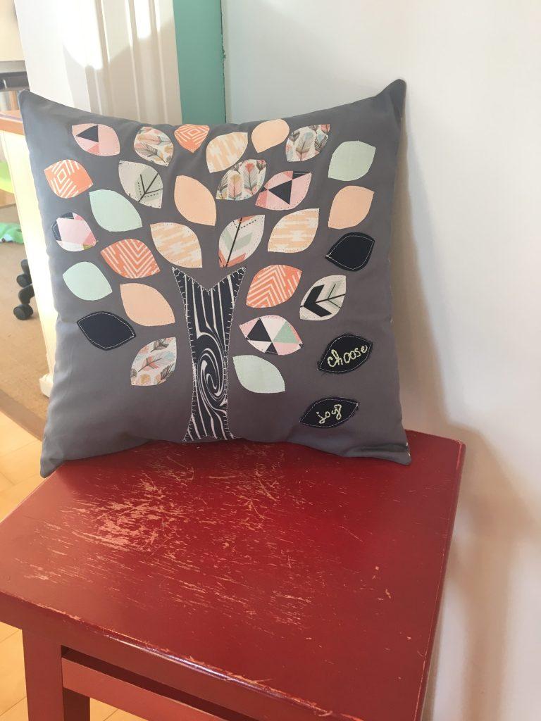 'Choose Joy' Tree of Life Throw Pillow
