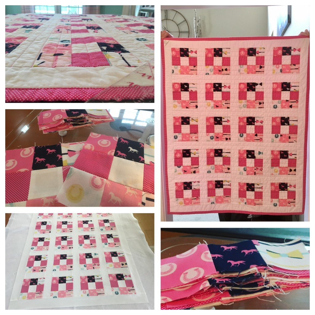 Derby for a Cure - Charity Baby Quilt - Pink