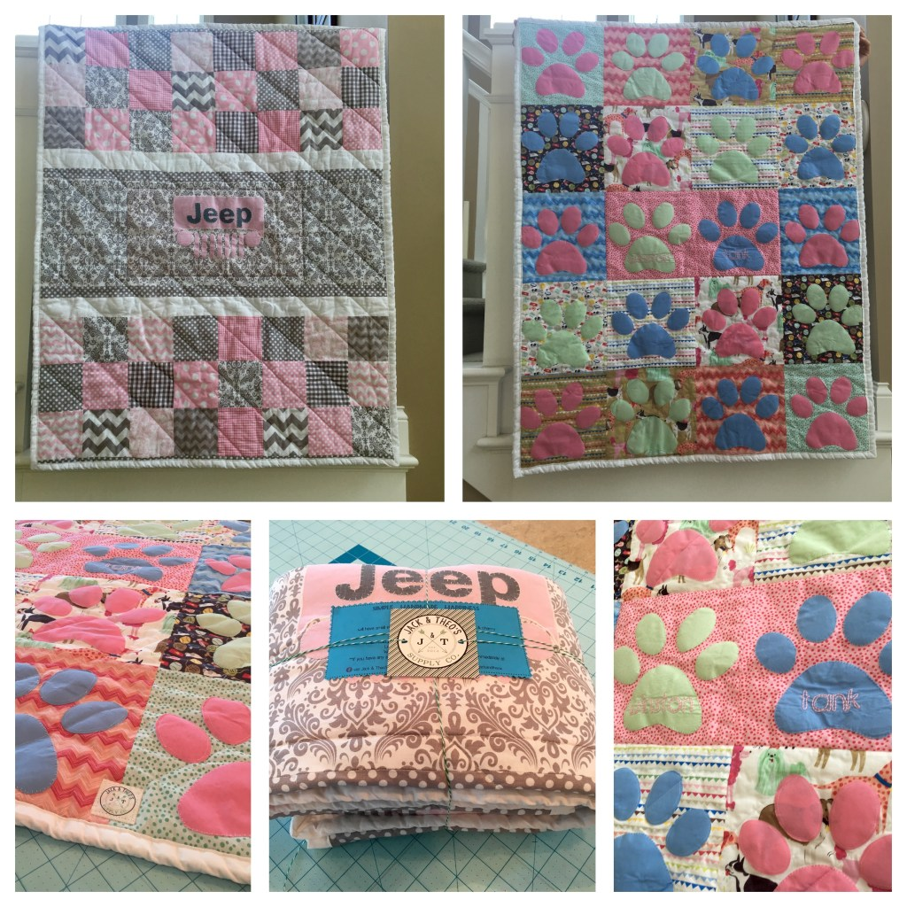 Double Sided Jeep - Paws Baby Quilt