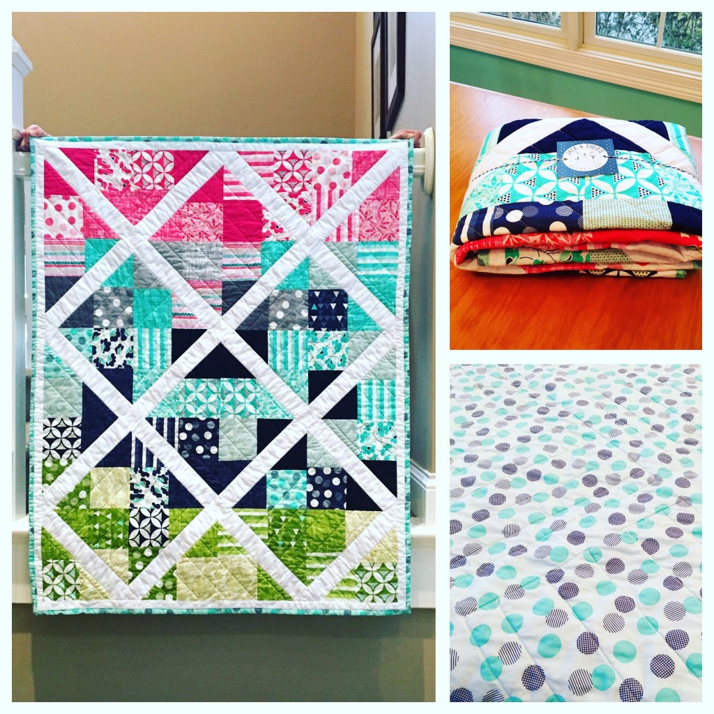 Garden Trellis Throw Quilt
