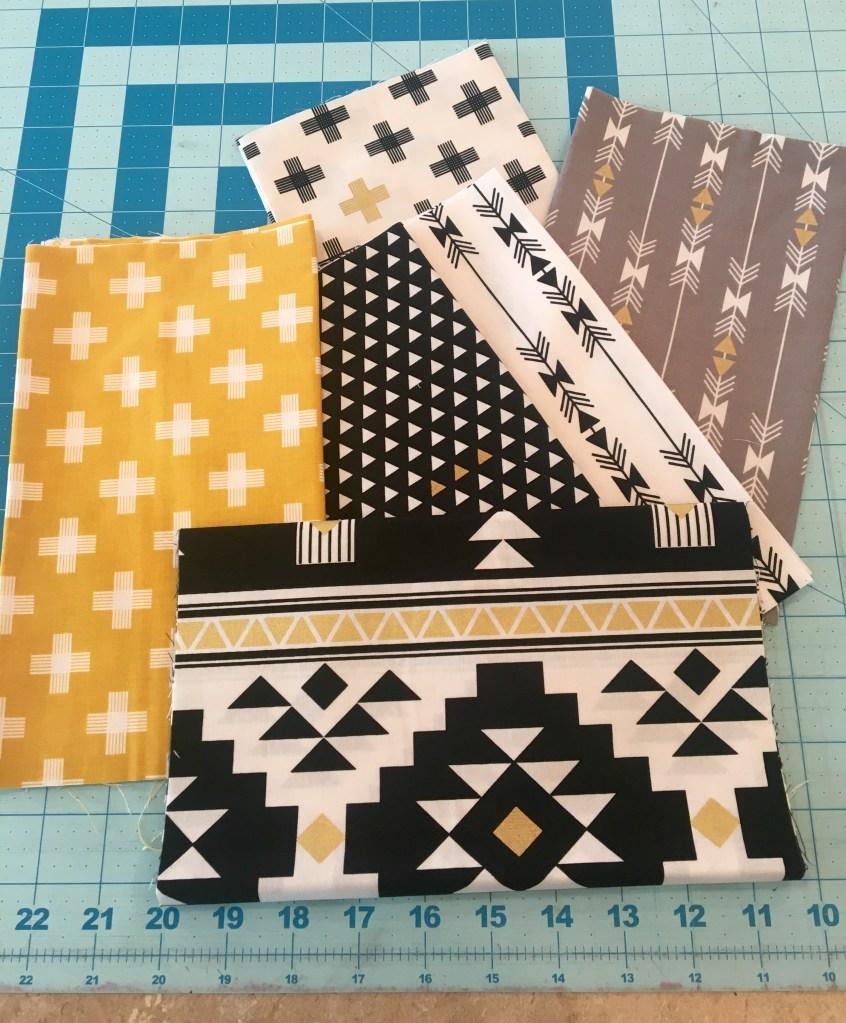 Golden Diamonds Quilt - fabric bundle