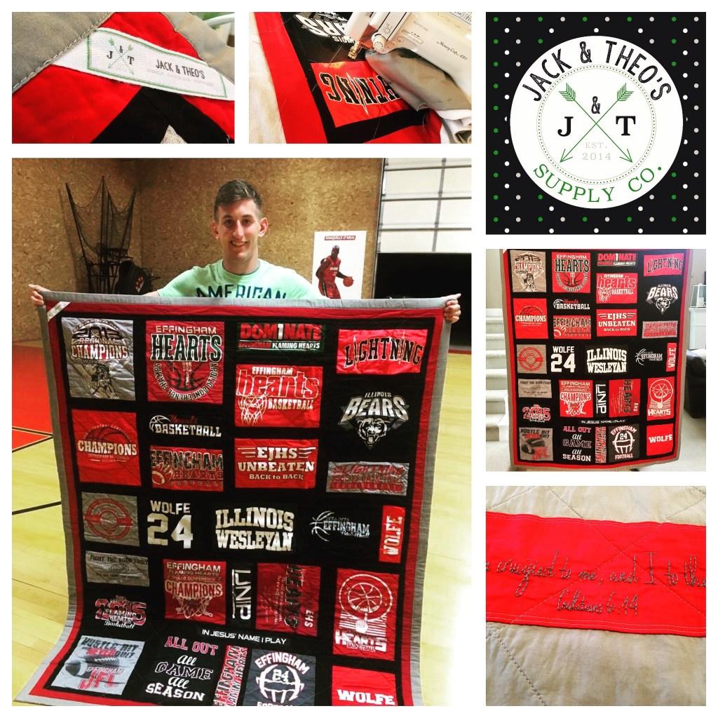 Grant & his quilt!