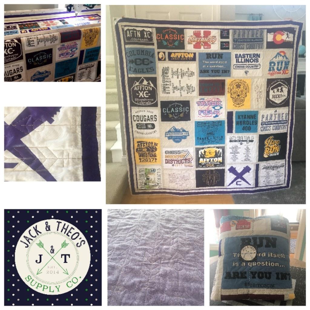 Kyanne's Senior Grad T-Shirt Quilt - Affton High School & Columbia High School
