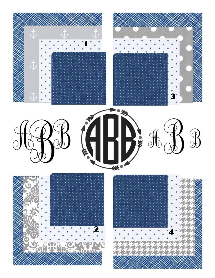 Laney's Fabric & monogram options