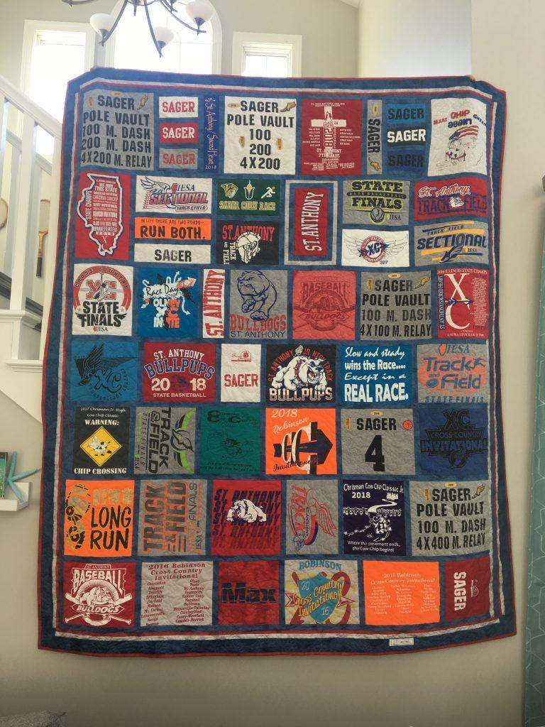 Max's 8th Grade Grad Quilt