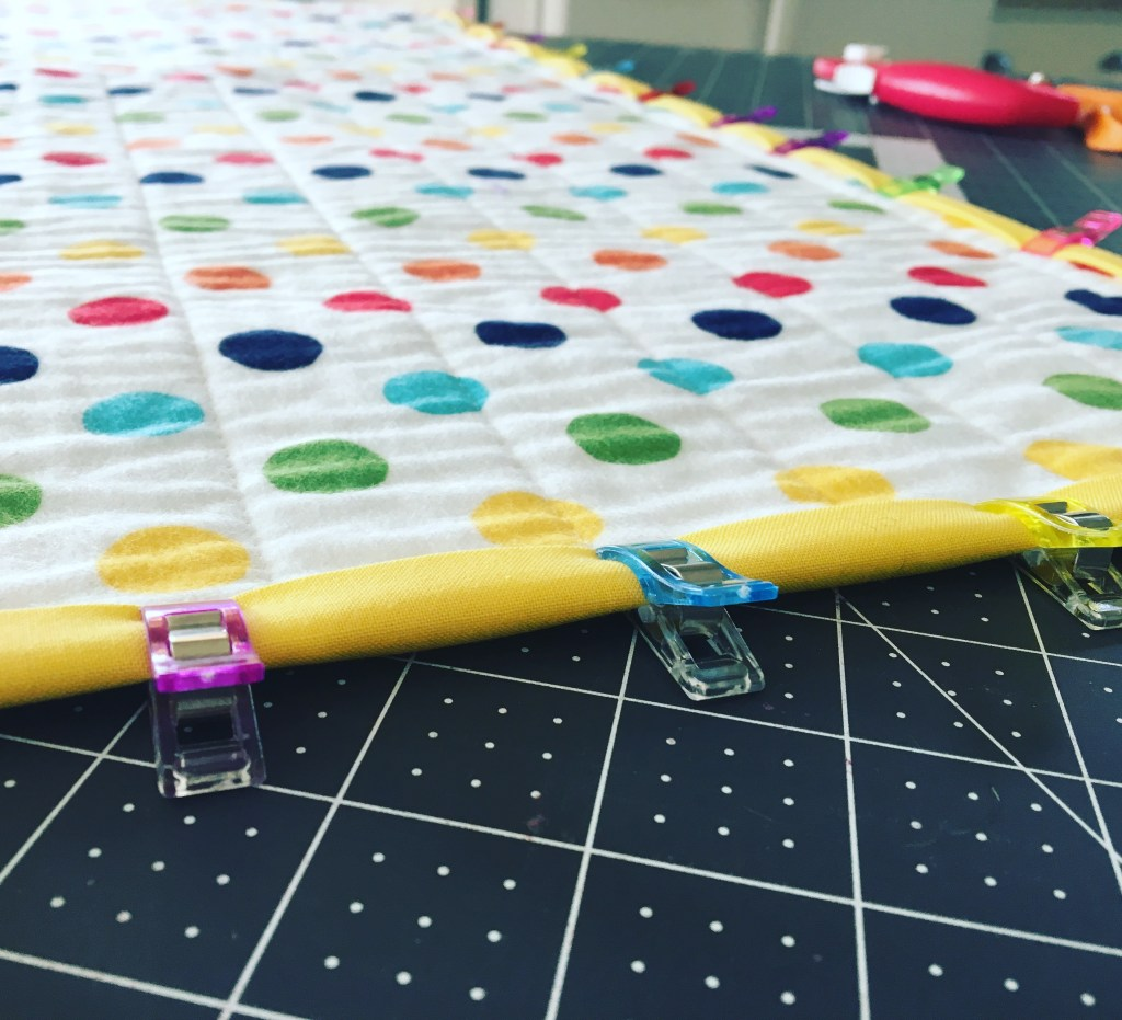 Rainbow Dots - Quilt Back
