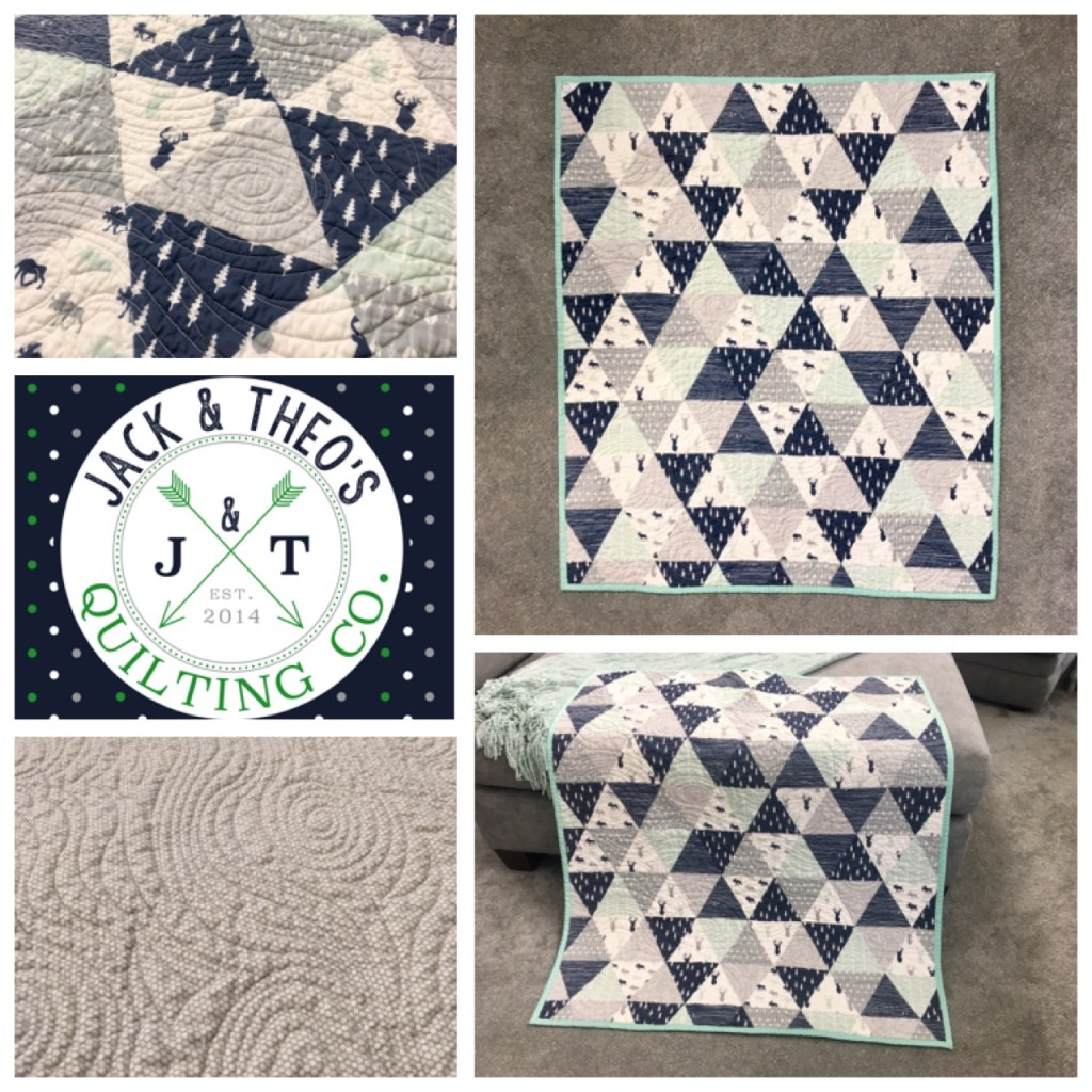 Woodland Triangles Baby Quilt