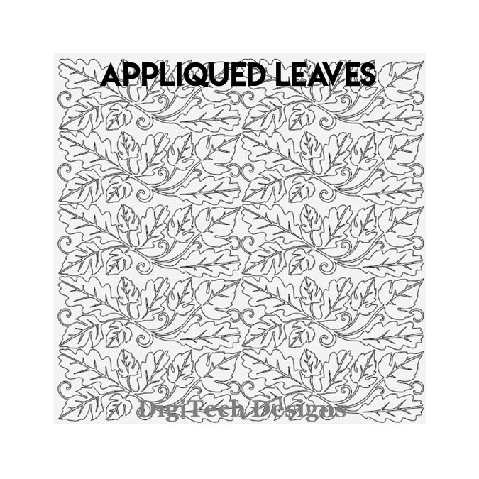 Appliqued Leaves - DigiTech Designs