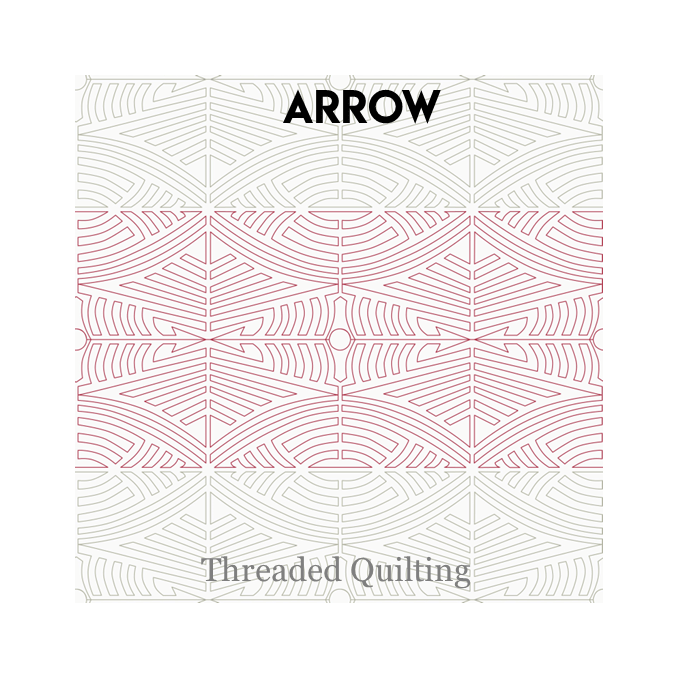 Arrow - Threaded Quilting