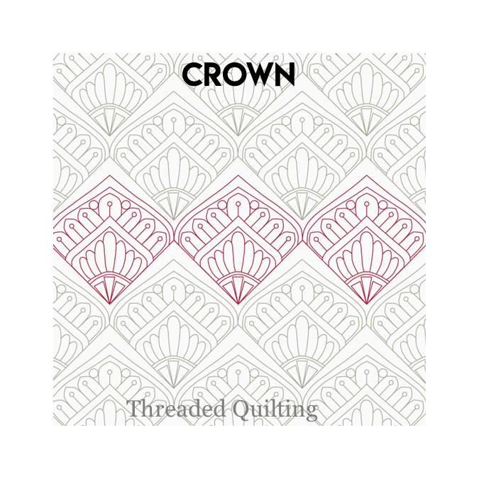 Crown - Threaded Quilting